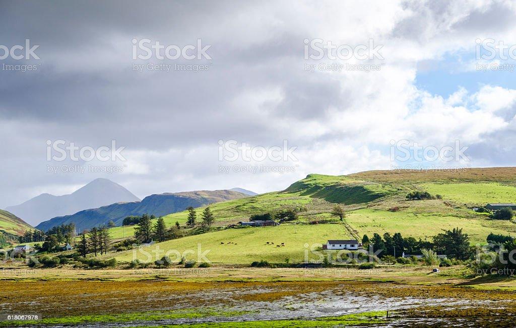 Isle of Skye rural landscape stock photo