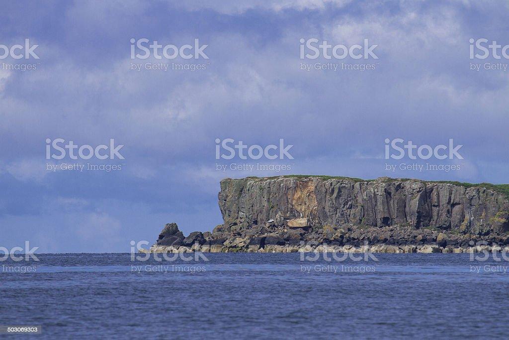 Isle of Staffa stock photo
