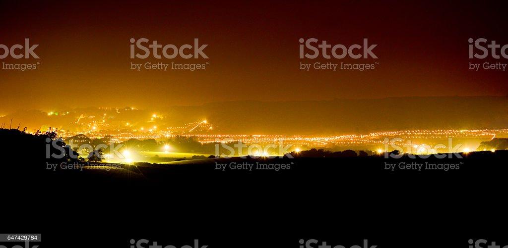 Isle of Wight Bestival Panorama stock photo