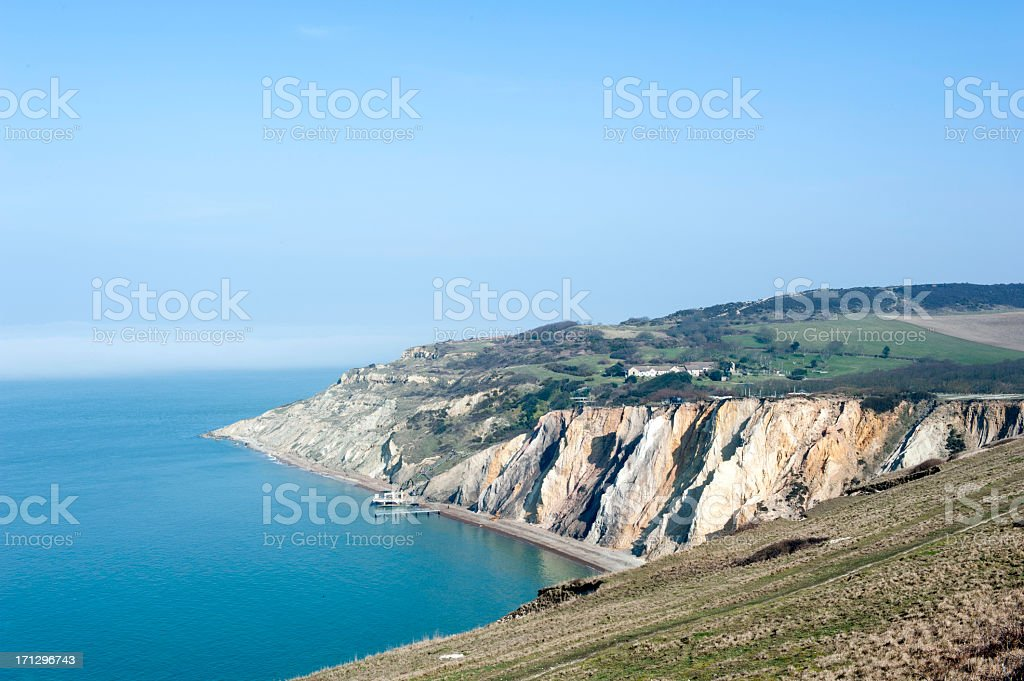 Isle of Wight Cliffs stock photo