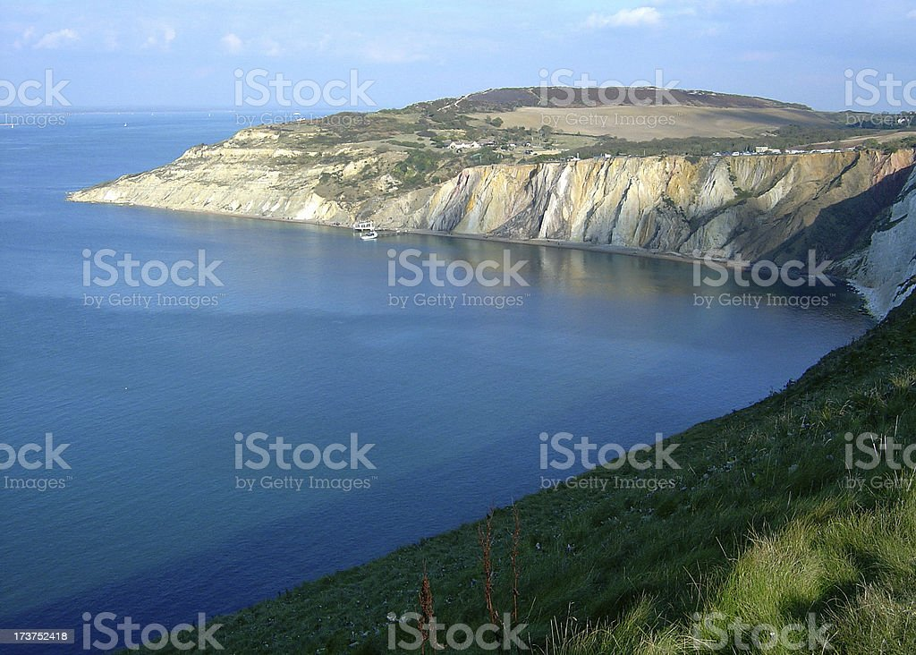 Isle of wight cliffs royalty-free stock photo
