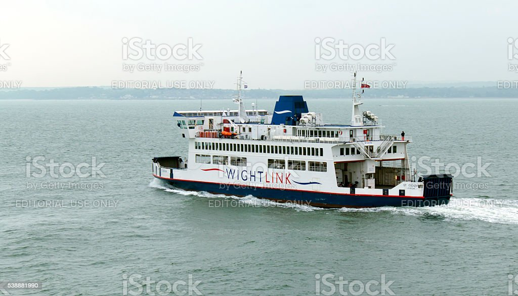 Isle of Wight Ferry Leaving Portsmouth 21st May 2016 stock photo