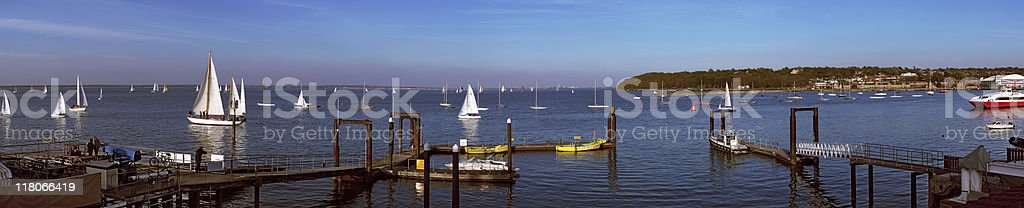 Isle of Wight from West Cowes stock photo