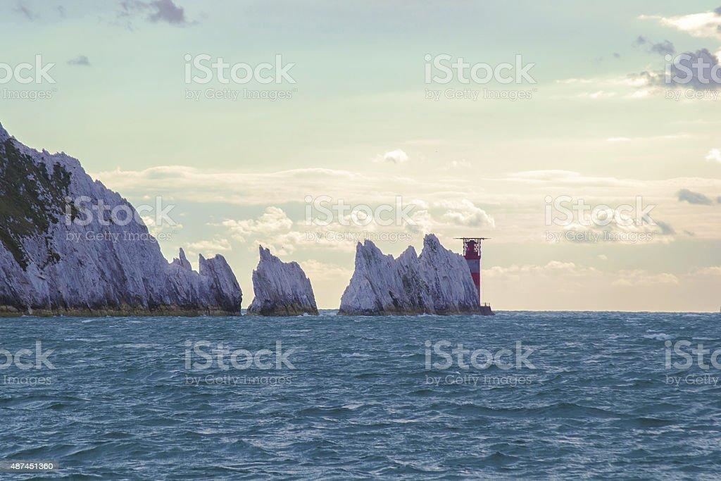 Isle of Wight needles stock photo