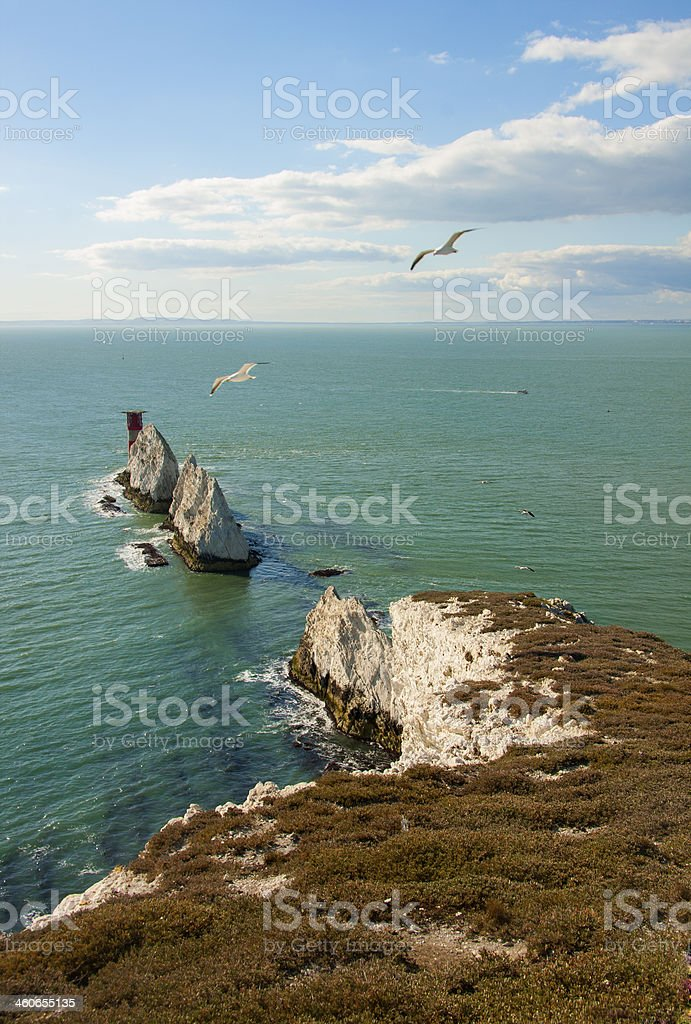 Isle of Wight, The Needles, England stock photo