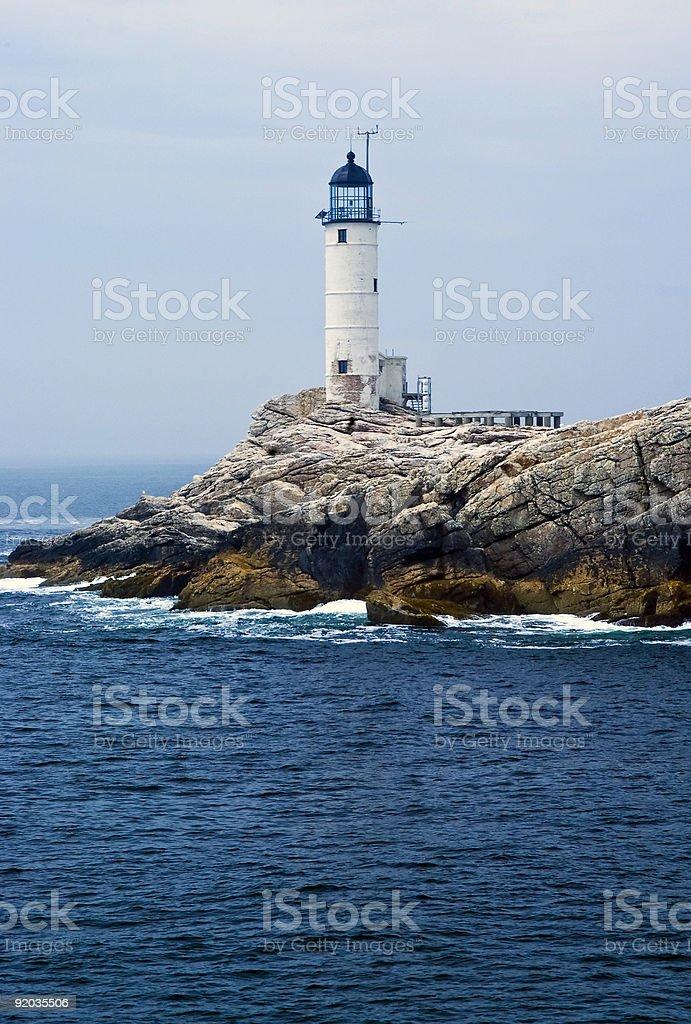 Isles of Shoals lighthouse stock photo