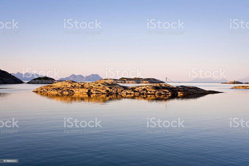 Islet in Lofoten royalty-free stock photo