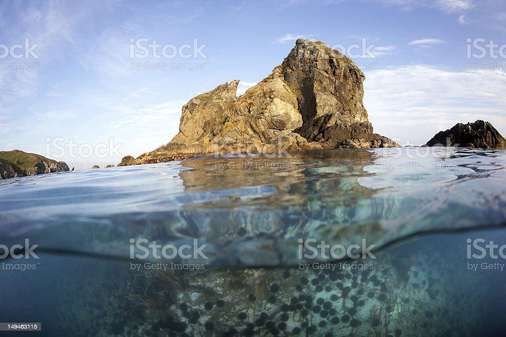islet in sea of japan stock photo
