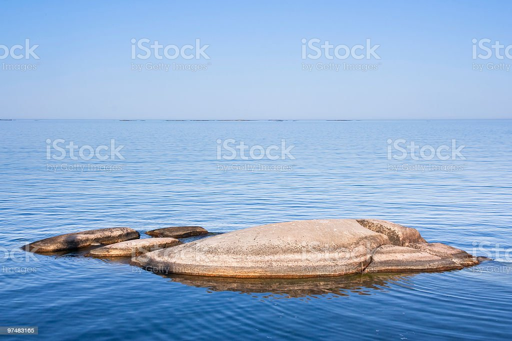 Islet in Stockholm Archipelago royalty-free stock photo