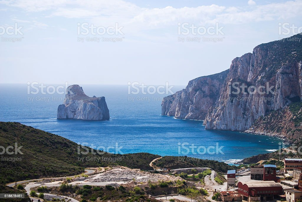 Islet of limestone Pan di Zucchero stock photo
