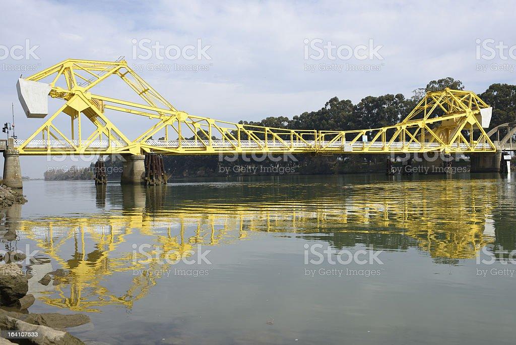 Isleton Draw Bridge royalty-free stock photo