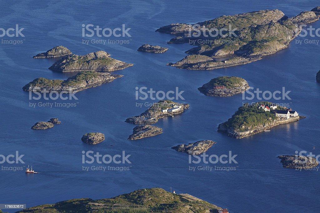 Islets on Lofoten royalty-free stock photo