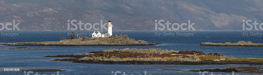 Islornsay Lighthouse, Isle Of Skye, Scotland stock photo
