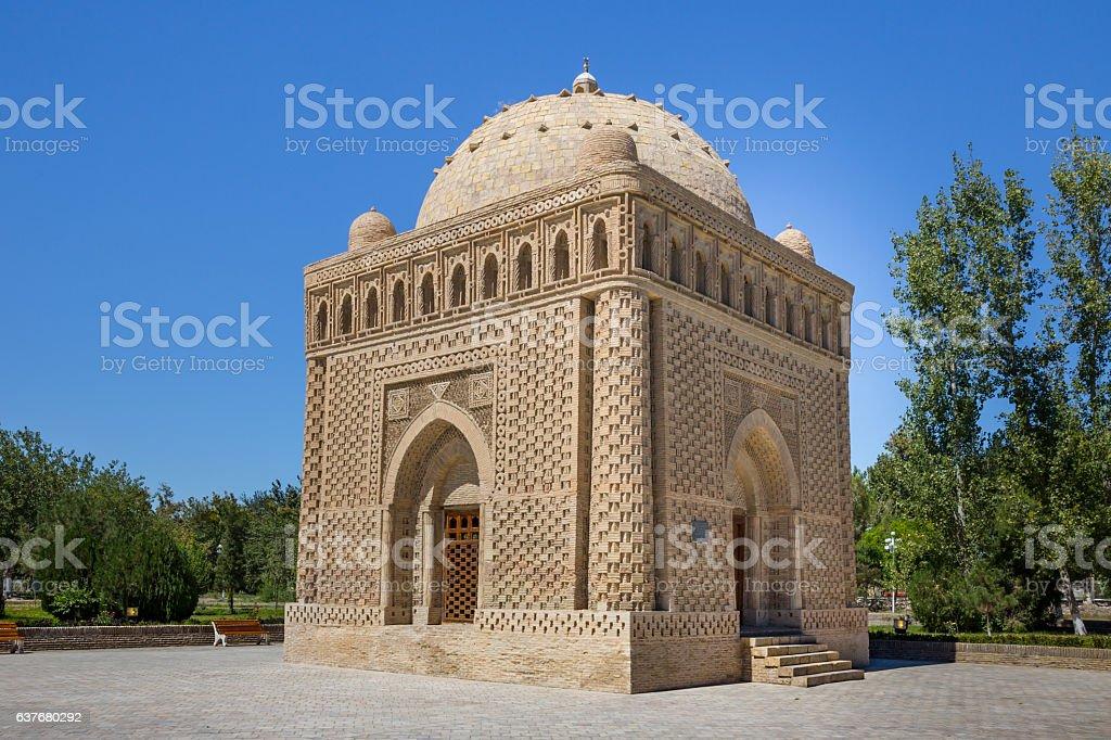 Ismail Samani Mausoleum in Bukhara, Uzbekistan stock photo