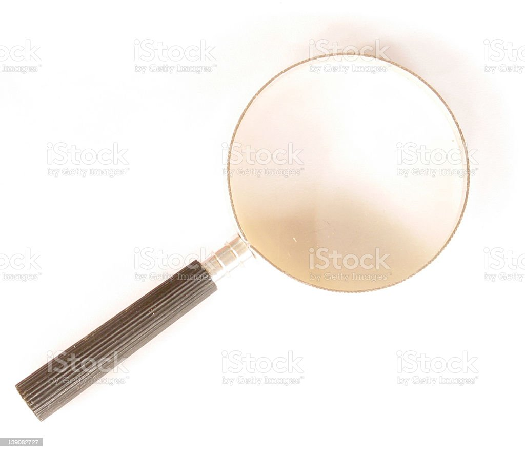 iso - Magnifying glass stock photo