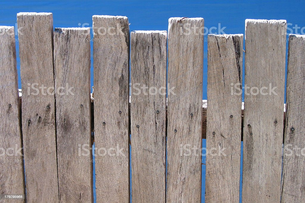 iso - top of wooden picket fence stock photo
