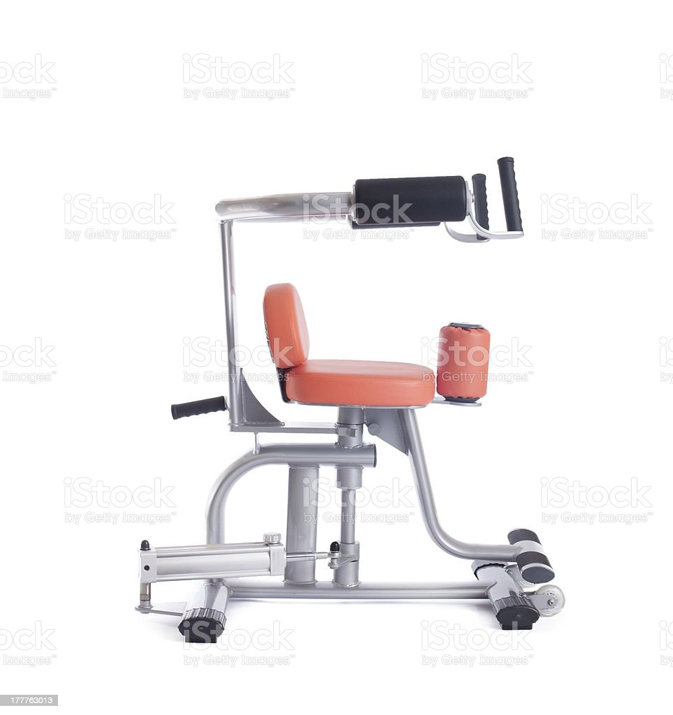 Isodynamic exerciser. Isolated on white royalty-free stock photo