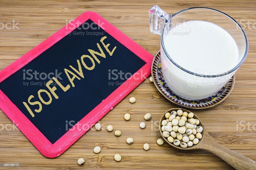 Isoflavone in soybeans stock photo
