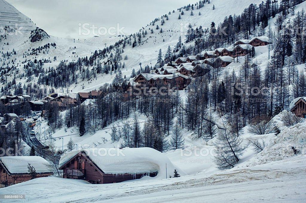 Isola 2000, ski resort in french alps stock photo