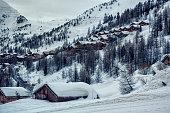 Isola 2000, ski resort in french alps