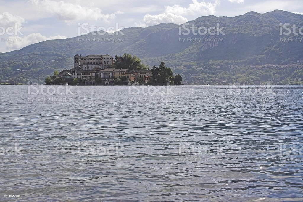 Isola Bella in Lago d'Orta royalty-free stock photo