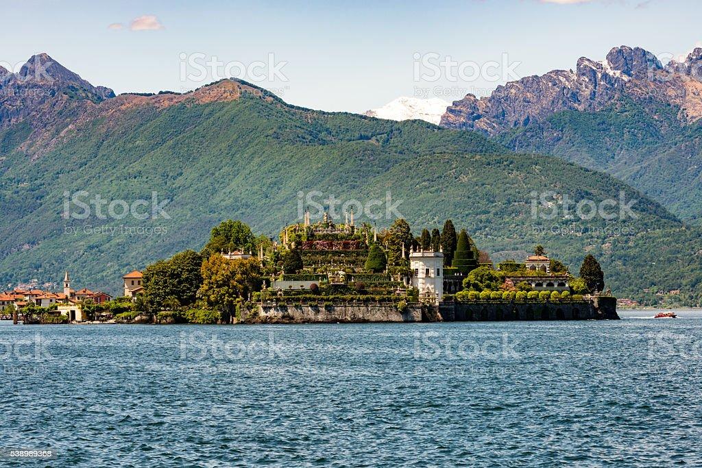 Isola Bella in Lake Maggiore stock photo