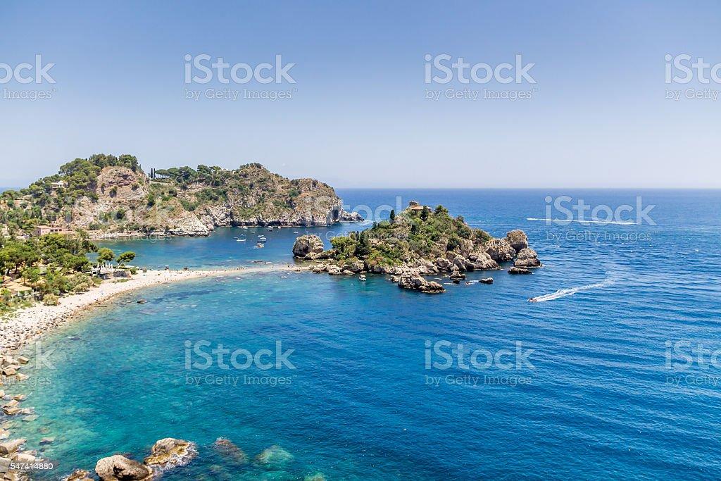 Isola Bella in Taormina - Sicily, Italy stock photo