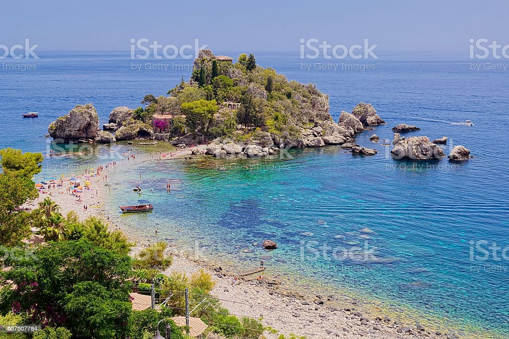 Isola Bella view stock photo