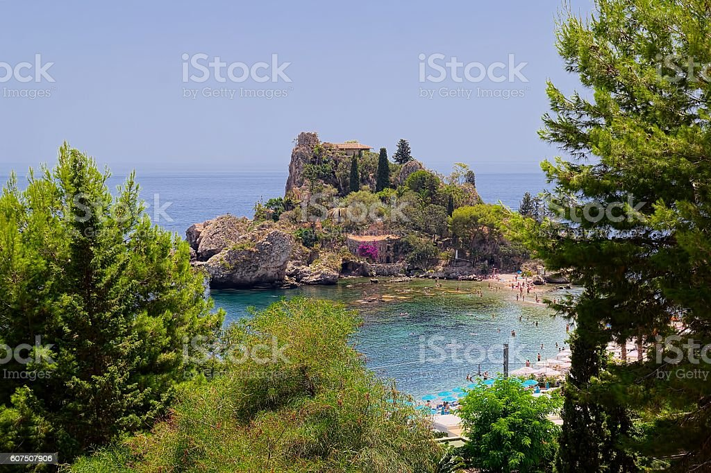 Isola Bella view stock photo