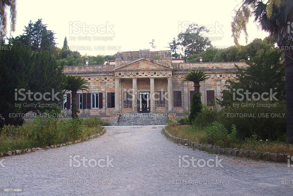 Isola d'Elba - Villa di Napoleone stock photo