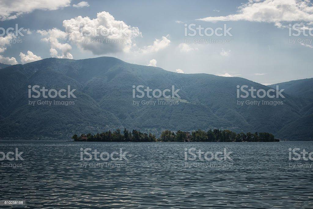 Isola di Brissago, Ticino, Switzerland stock photo