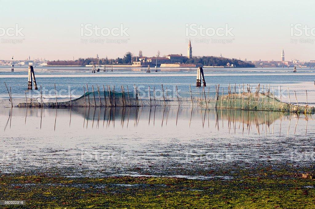 Isola di Poveglia stock photo