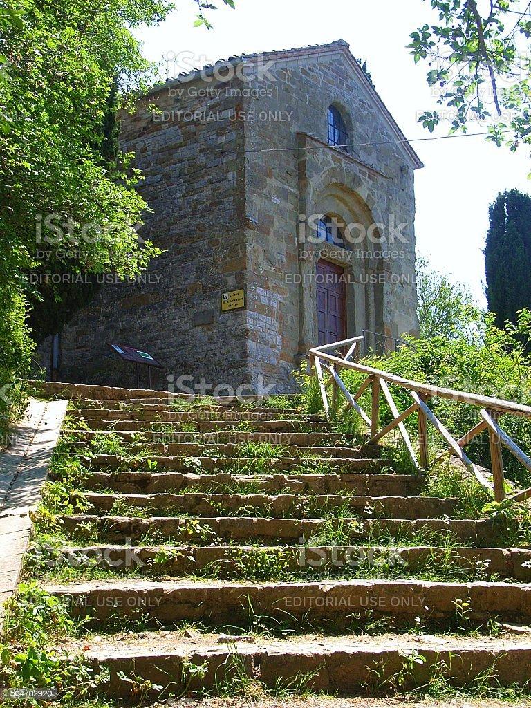 Isola maggiore - Chiesa di san Salvatore stock photo