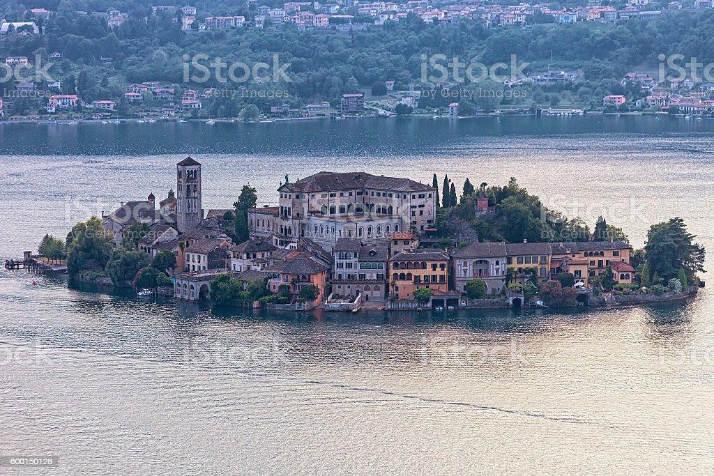 Isola San Giulio stock photo