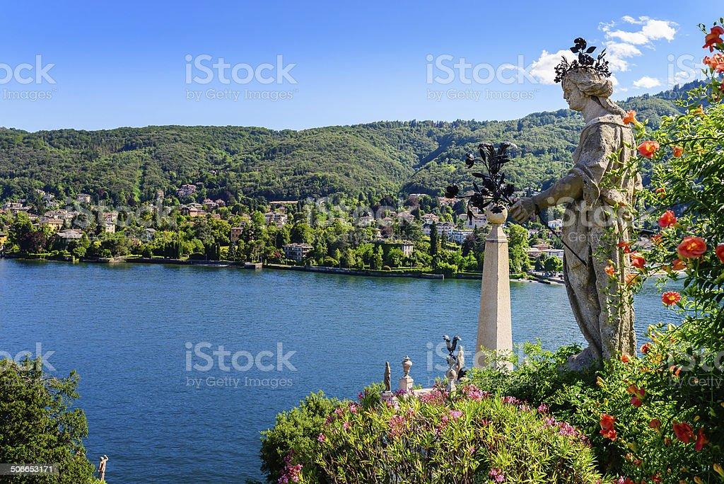 Isolabella Islad Maggiore Lake stock photo