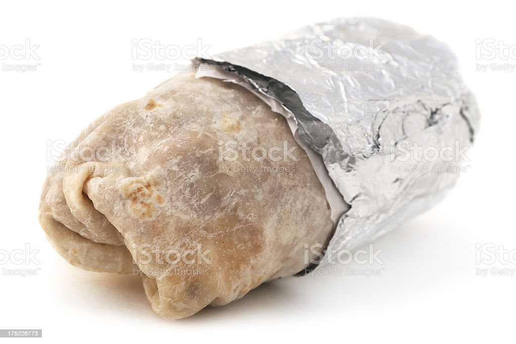 Isolatd Burrito stock photo