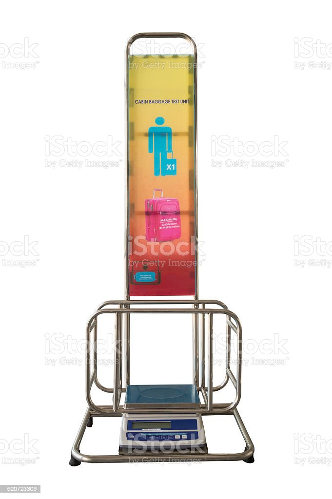 Isolate Cabin Baggage Test Unit Weight Scale stock photo