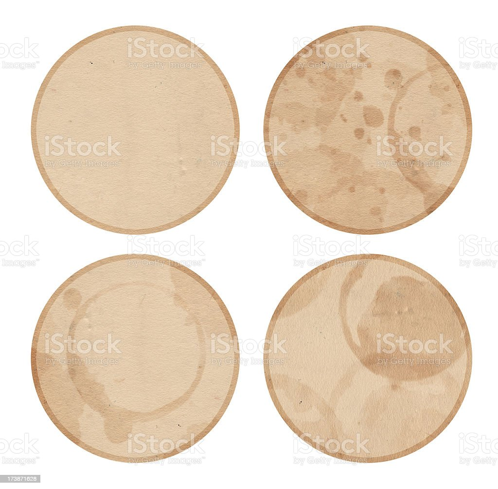 Isolate Coasters stock photo