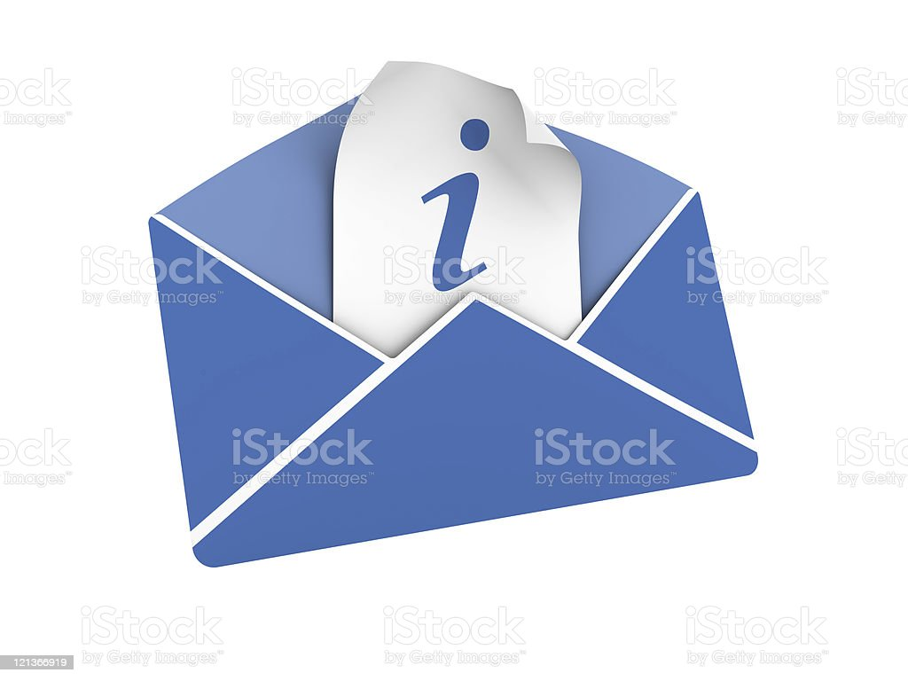 Isolate Envelope with Information Symbol stock photo