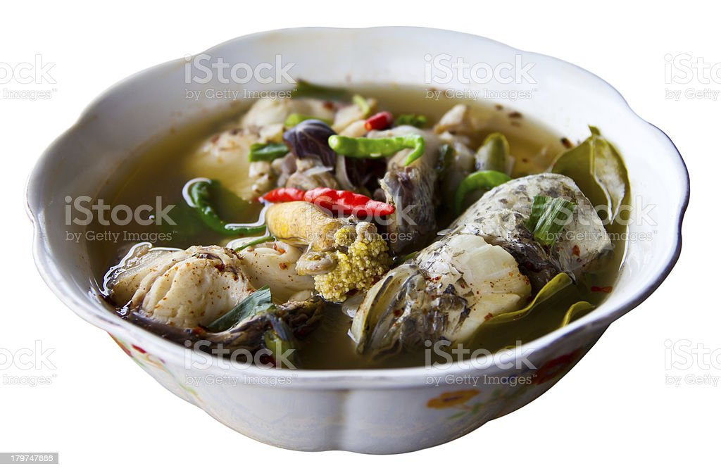 Isolate fish roe soup royalty-free stock photo
