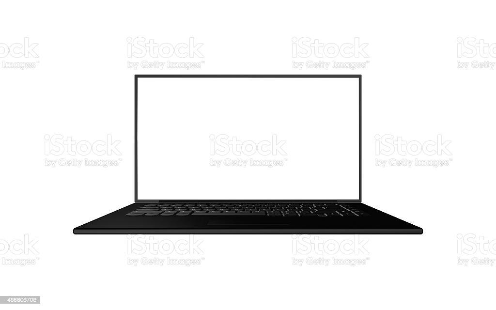 Isolate Laptop black stock photo