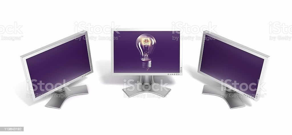 Isolate LCD monitors royalty-free stock photo