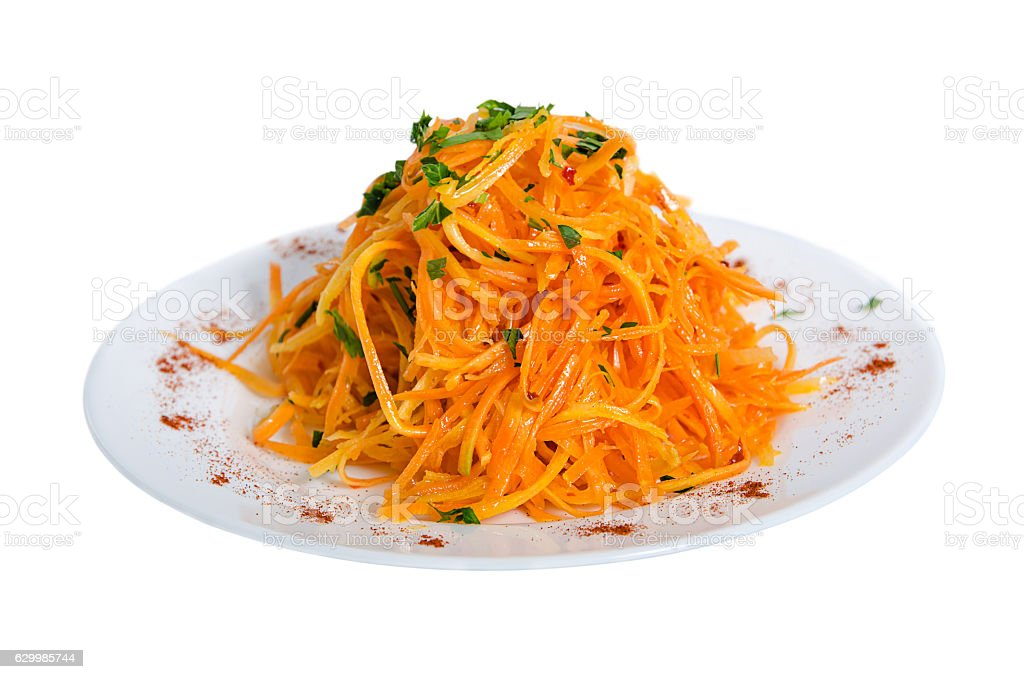 isolate salad with carrot stock photo