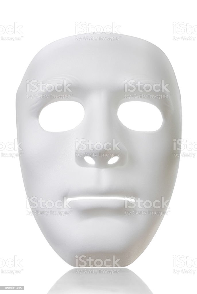 Isolate White Mask royalty-free stock photo