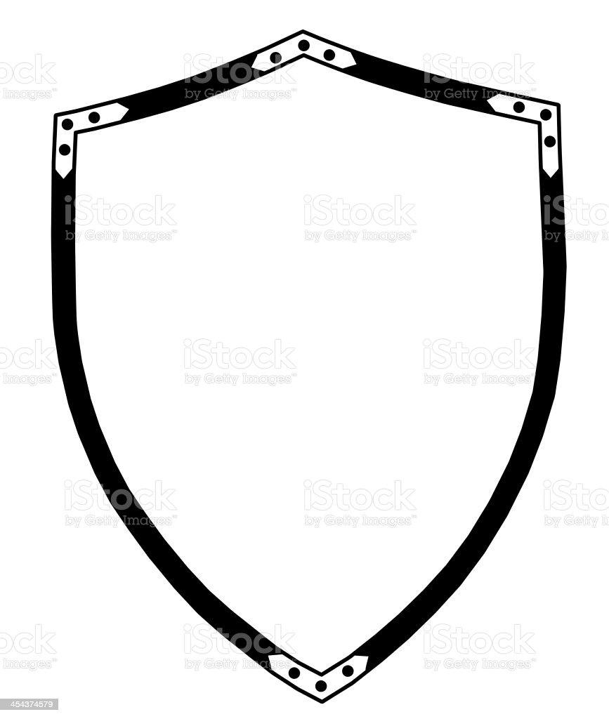 Isolated 16th Century War Shield stock photo