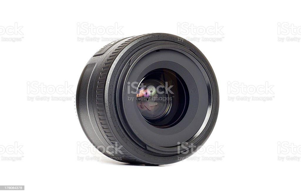 Isolated 35mm Camera Lens royalty-free stock photo