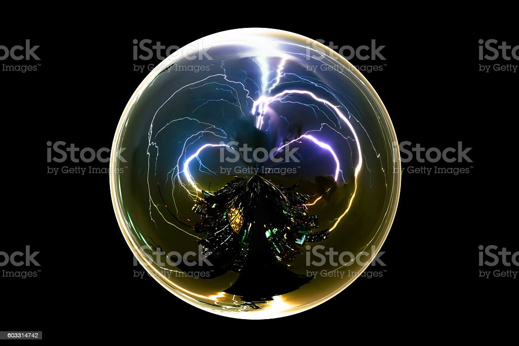 Isolated abstract thunder storm lightning bolt with clipping path stock photo