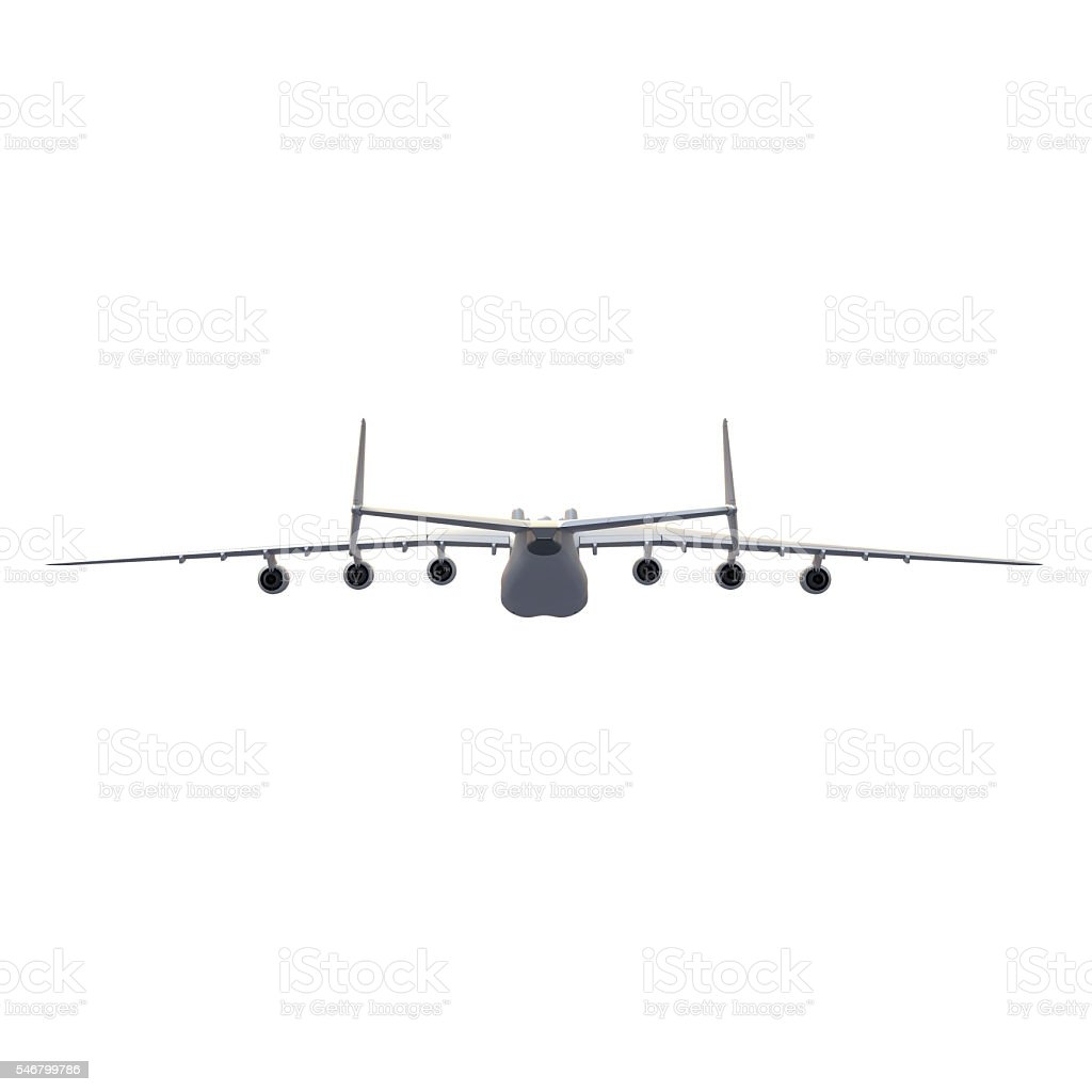Isolated aircraft 3d rendering stock photo