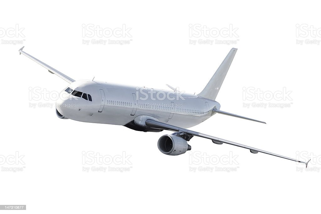 Isolated Airplane _ passanger  commercial royalty-free stock photo