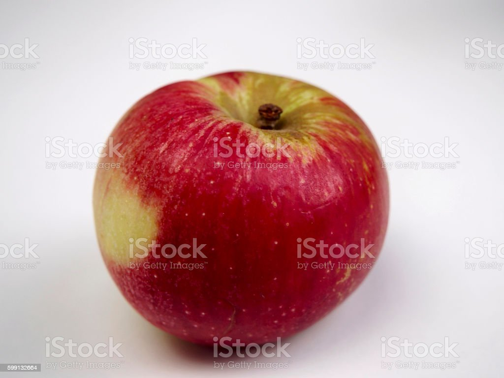Isolated Akane apple stock photo